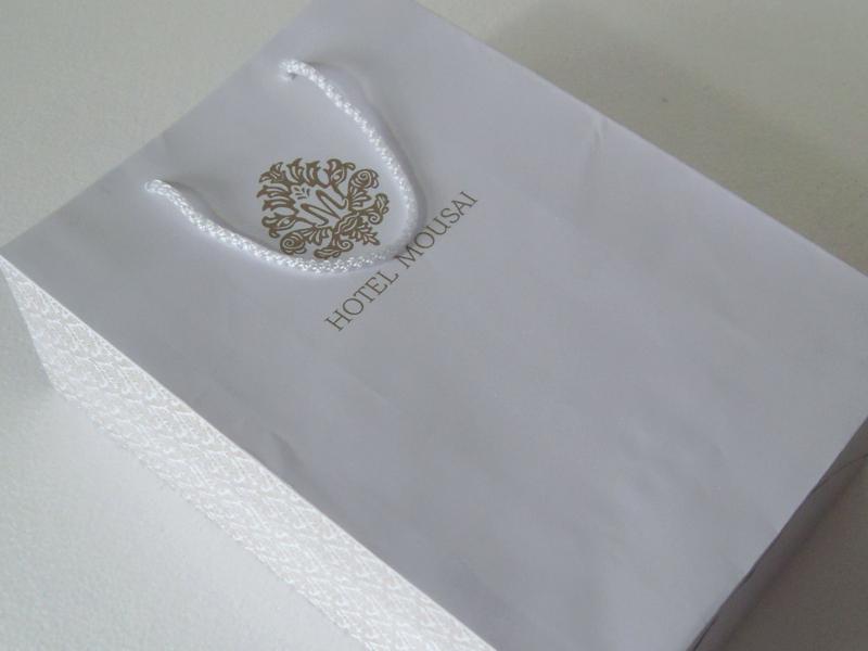 Bolsa bond blanca, diseño a 1 tinta