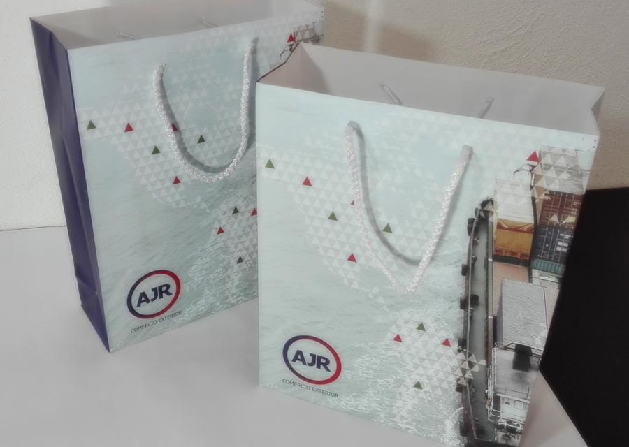 Bolsa con diseño impresión a selección de color