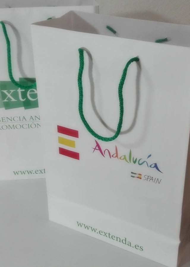 Bolsas impresas con diseño a selección de color