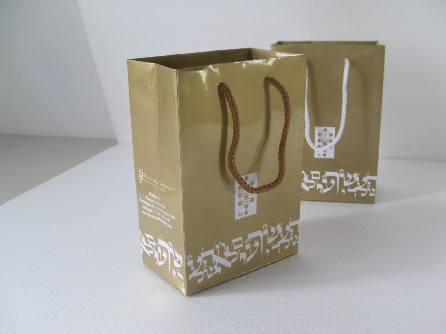 Bolsas impresión dorada