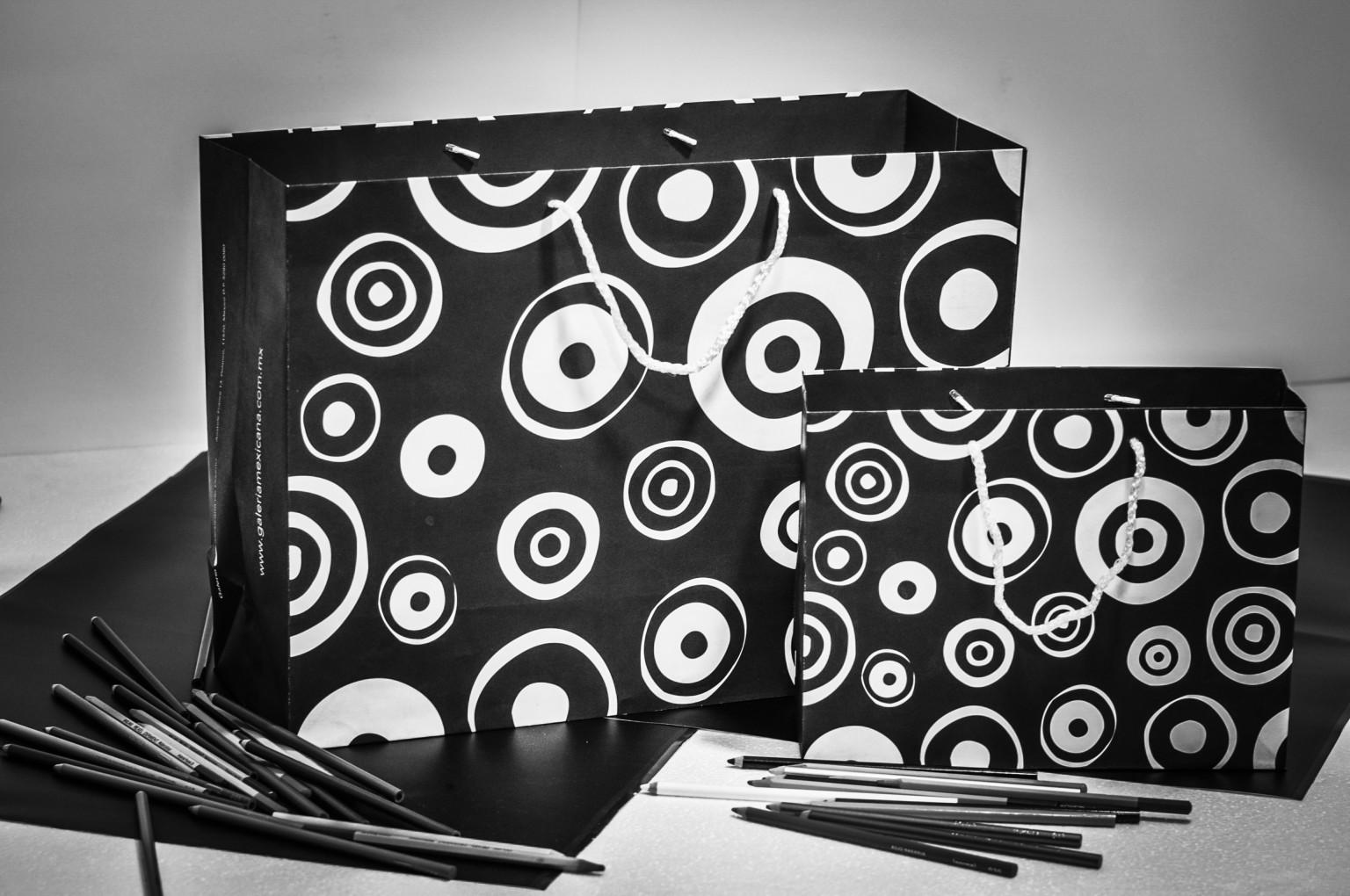 Bolsas bond con diseño impreso